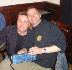 Zwei Grinsemänner - Peter O. und Michael