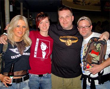 Moni und Michael mit Rolf und Nadine - Coburg allez