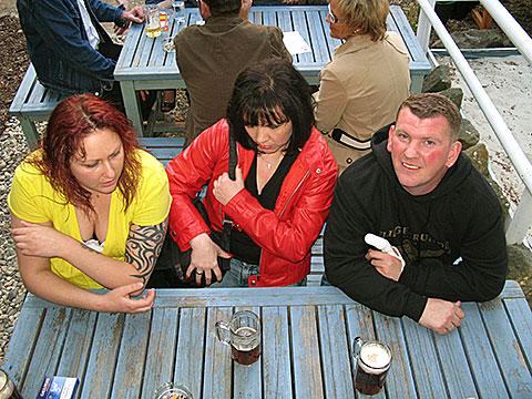 Melanie, Anke und Steini