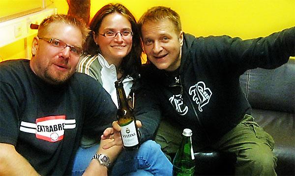 Marc, Nadine und ich