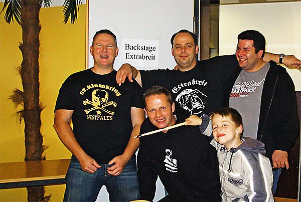 Andi, Christian, Marcus, Onk und Mini-Onk