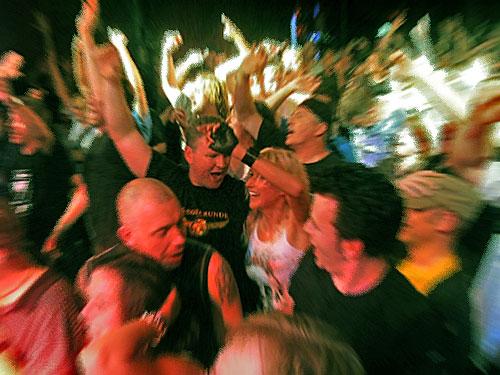 Begeisterung für das symptischste Rock-Syndikat nördlich Neapels