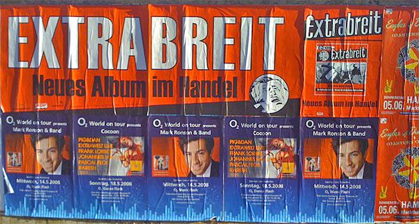 Plakatwände für die Breitinis