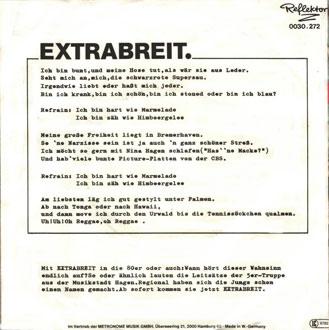 Liedtext und Erläterungen auf der Rückseite