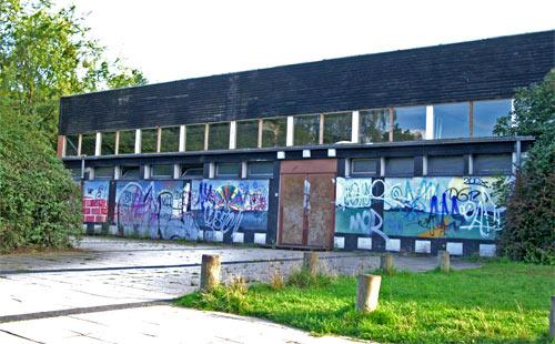 Die Rückseite der Schule und erste Fotolocation